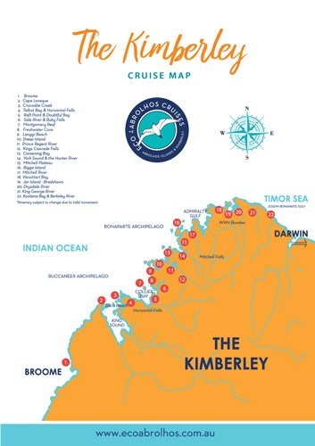 Map of our Kimberley tours