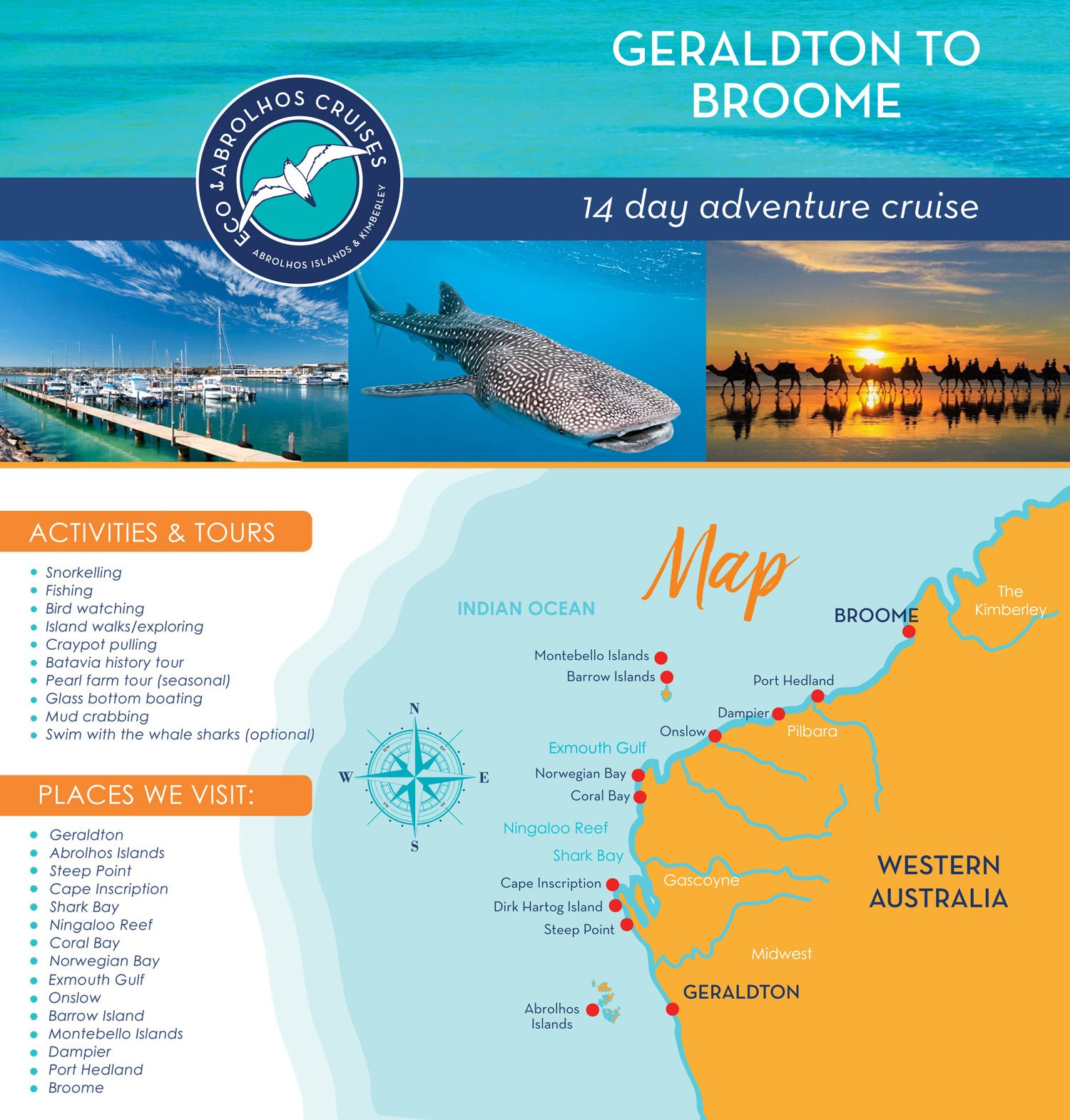 Geraldton to Broome adventure Cruise