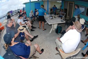 Eco Abrolhos Guests meet the locals at Basile Island