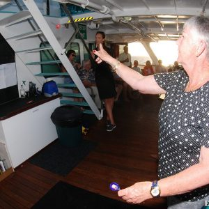Darts night aboard the Eco Abrolhos