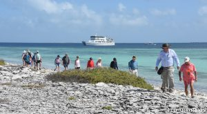 Guests exploring ashore at the Abrolhos Islands