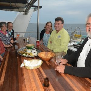 Enjoying the Top Deck on the Eco Abrolhos