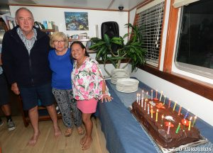Birthday & Anniversay celebration onboard the Eco Abrolhos