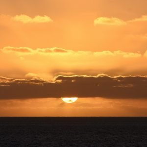 Sunset over the Indian Ocean in the Abrolhos Islands