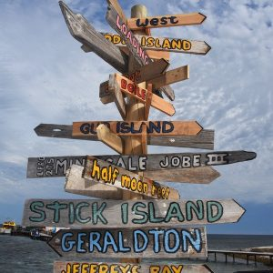 Sign Post at the Abrolhos Islands