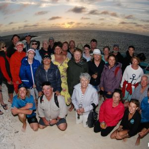 Group photo at sunset on the ABrolhos Islands