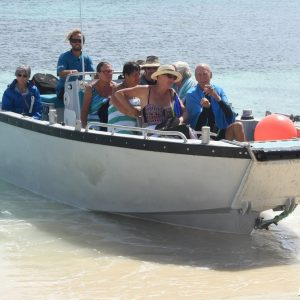 Exploring in the Tenders at the Abrolhos Islands