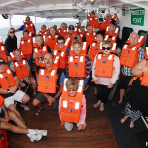 Life Jacket Muster on the Eco Abrolhos