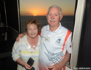 Guests enjoying sunset at the Abrolhos Islands