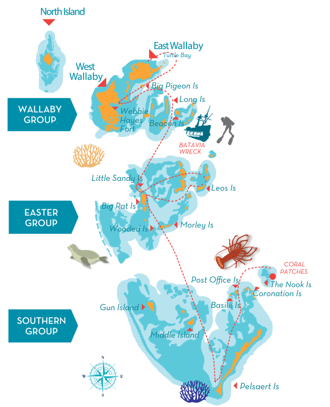 Abrolhos Islands Detail Map