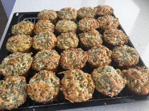Crayfish & fennel muffins cooked