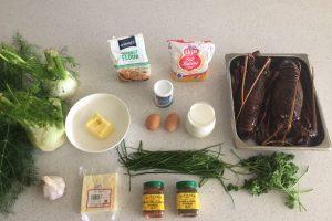 Ingredients crayfish & fennel muffins