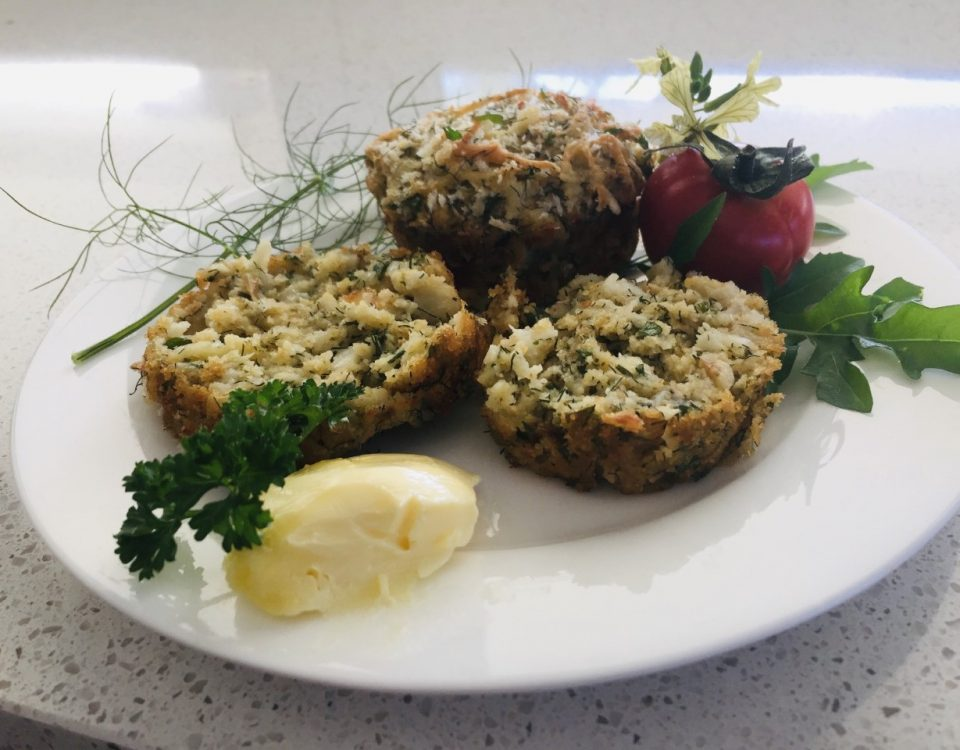 crayfish & fennel muffins